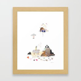 Hermit Crab vs. Snail Framed Art Print