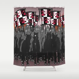 Year of the Snake: blazing banners Shower Curtain