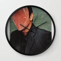 kevin russ Wall Clocks featuring Kevin by Marko Köppe