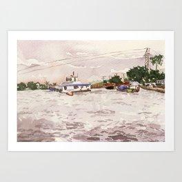 Cai Rang floating market, Vietnam Art Print