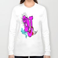 dj Long Sleeve T-shirts featuring DJ by Christa Bethune Smith