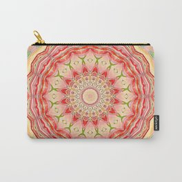 Mandala Tequila Sunrise -- Kaleidoscope of Vibrant Sunny Colors Carry-All Pouch