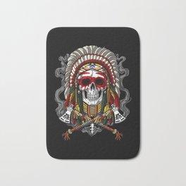 Native American Skull Indian Chief Headdress Bath Mat