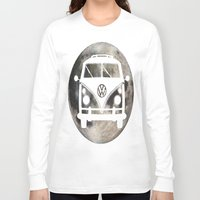 volkswagon Long Sleeve T-shirts featuring Moon Wagon by Isaak_Rodriguez