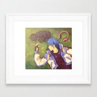 dramatical murder Framed Art Prints featuring Dramatical Murder-Aoba & Ren by Gin-Uzumaki