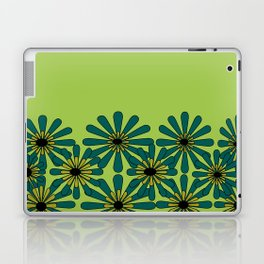 Green Flower Pattern Laptop & iPad Skin