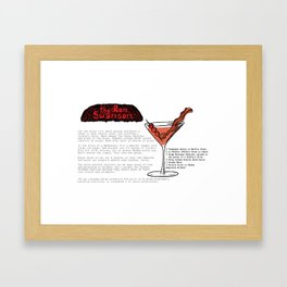 The Ron Swanson Cocktail Recipe Framed Art Print