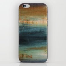 Blue and Brown iPhone Skin