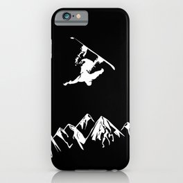 Rocky Mountain Snowboarder Catching Air iPhone Case