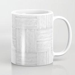 White Faux Bois Wood Pattern Coffee Mug