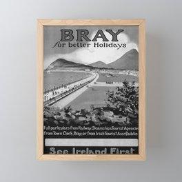 retro noir Bray for better Holidays poster Framed Mini Art Print