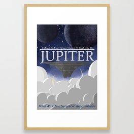 Jupiter Cloud City Framed Art Print