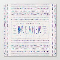 dreamer Canvas Prints featuring DREAMER by Bianca Green