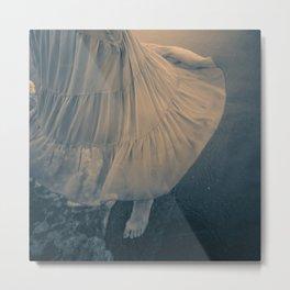 Swirling by the Sea Metal Print