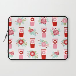 Coffee floral bouquet painted flowers for valentines day gifts coffee lovers must haves Laptop Sleeve