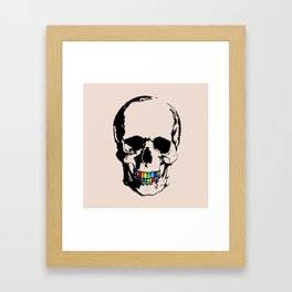 Trap Skull Framed Art Print