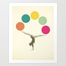 Gymnastics II Art Print