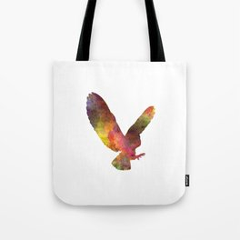 Barn Owl 02 in watercolor Tote Bag