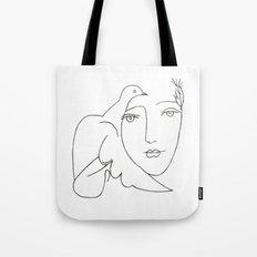 face - dove Tote Bag