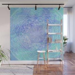 Blue Mandala Pattern Zen Painting Wall Mural
