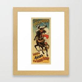 1887 Paris Desert Arabian expo advertising Framed Art Print
