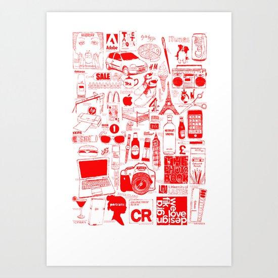 Graphics Design student poster Art Print