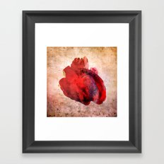 A Heart Framed Art Print