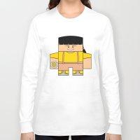power rangers Long Sleeve T-shirts featuring Mighty Morphin Power Rangers - Trini (The Original Yellow Ranger) by Choo Koon Designs