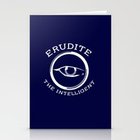 divergent Stationery Cards featuring Divergent - Erudite The Intelligent by Lunil