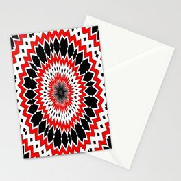 Bizarre Red Black and White Pattern Stationery Cards