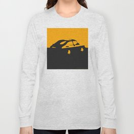 Saab 900 classic, Yellow on Black Long Sleeve T-shirt