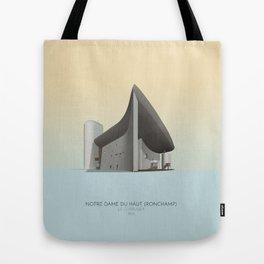Ronchamp Chapel Le Corbusier Tote Bag