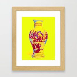 A BLUE AND WHITE 'LANDSCAPE' VASE QING DYNASTY, KANGXI PERIOD 2 Neon art by Ahmet Asar Framed Art Print