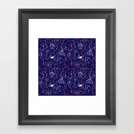 Stuga Pattern  Framed Art Print