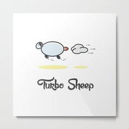 Turbo Sheep Metal Print