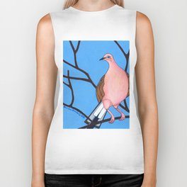 Mourning Dove on Branches, colored pencil, 2010 Biker Tank