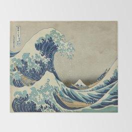 Great Wave of Kanagawa Throw Blanket
