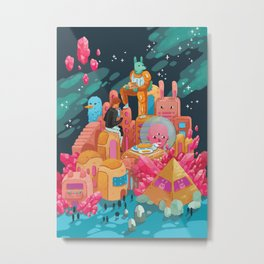 Spacetime Adventure Metal Print