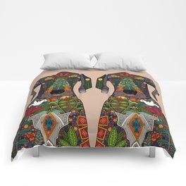 Great Dane love beige Comforters