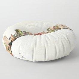 nashville tennessee skyline Floor Pillow