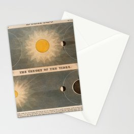 J Emslie - Diagram of Eclipses (top) and the Theory of the Tides (bottom) (1851) Stationery Cards