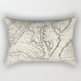 Vintage Map of The Chesapeake Bay (1780) Rectangular Pillow