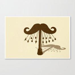 Moustache Ride Canvas Print