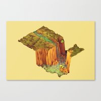 waterfall Canvas Prints featuring Waterfall by Timothy J. Reynolds
