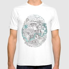 Victorian London White Mens Fitted Tee MEDIUM