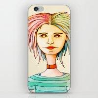 rasta iPhone & iPod Skins featuring Rasta Girl by IOSQ