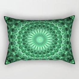 Mandala in different green tones Rectangular Pillow