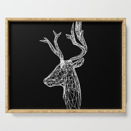 Black and White Deer Serving Tray