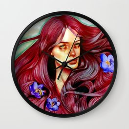 Saffron's Honey Wall Clock