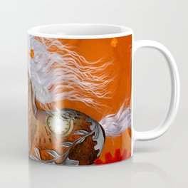 Steampunk, wonderful wild steampunk horse Coffee Mug